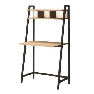 Bureau en métal et bois Moreno - 85 x 140 cm - Beige