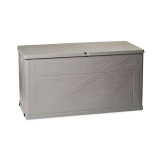 Coffre de rangement Wood - 420 L - Gris clair