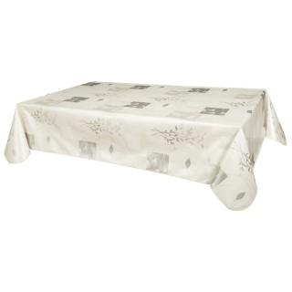 Nappe en toile cirée rectangulaire Etamines - 140 x 240 cm - Argent