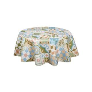 Nappe en toile cirée ronde Carreaux - Diam. 150 cm - Multicolore