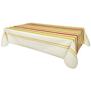 Nappe en toile cirée rectangulaire Ascain - 140 x 240 cm - Multicolore