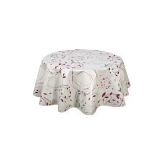 Nappe en toile cirée ronde Natty - Diam. 135 cm - Rose