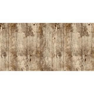 Adhésif décoratif Bois vieilli - 200 x 45 cm - Marron