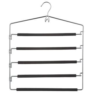Cintre pour 5 Pantalons - En métal - Noir
