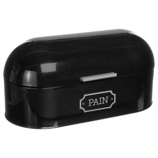 Boîte à pain en métal arrondie - Noir