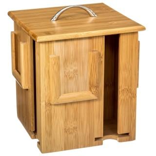 Boîte à thé rotative - Bambou - Beige