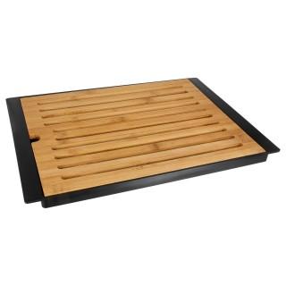Planche à pain en bambou avec plateau - Noir