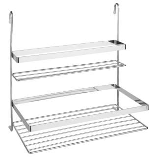 Double étagère de cuisine pour barre de crédence - 30,5 x 31,5 cm