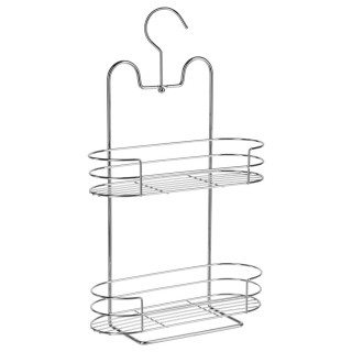Etagère de douche ou baignoire en métal - 2 Niveaux - 25 x 41 cm