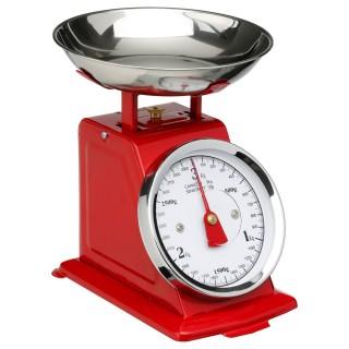 Balance de cuisine mécanique - Rouge