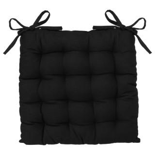 Galette de chaise - 38 x 38 cm - Noir
