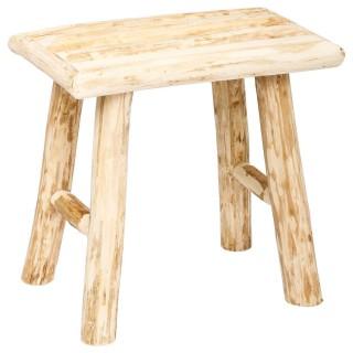 Tabouret en bois Woody - H. 32 cm - Naturel