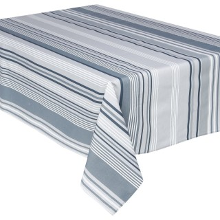 Nappe anti-tâches Rayures - 240 x 145 cm - Gris