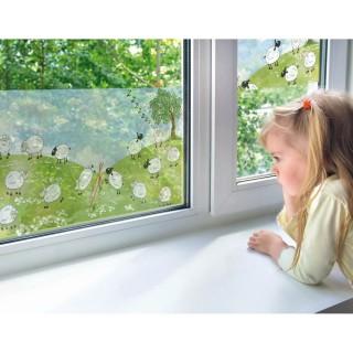 Film décoratif vitrostatique Sheeps - 150 x 70 cm - Transparent
