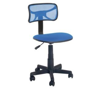 Chaise de bureau à roulettes - H. 75/87 cm - Bleu
