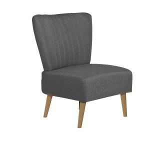 Chaise de salon vintage Louise - H. 82 cm - Gris