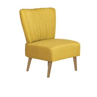 Chaise de salon vintage Louise - H. 82 cm - Jaune
