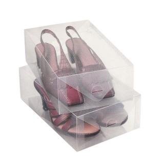 2 Boîtes de rangement pour chaussures - Transparent