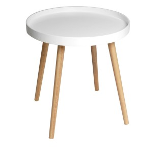 Table d'appoint ronde Lucie - Diam. 49,5 cm - Blanc