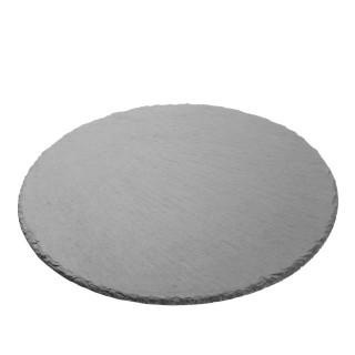Assiette ronde en ardoise - Diam. 30 cm - Noir