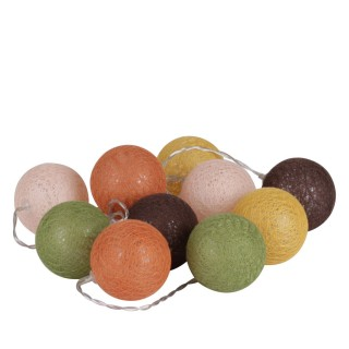 Guirlande lumineuse 10 boules Vintage - Diam. 6 cm - Multicolore