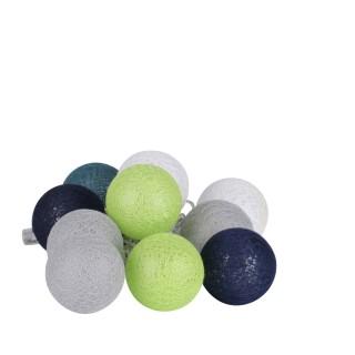 Guirlande lumineuse 10 boules Fresh - Diam. 6 cm - Multicolore