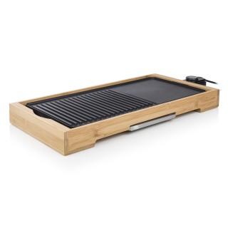 Plancha électrique de table en bambou Cuisto XL - 2000W - 51 x 25,4 cm