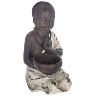 Statuette de Bouddha assis - H. 34 cm - Gris
