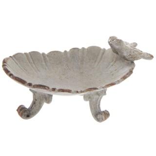 Porte bagues en métal Coquille - 11 x H. 6 cm - Gris
