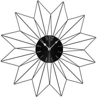 Pendule murale Etoile - Diam. 50 cm - Noir