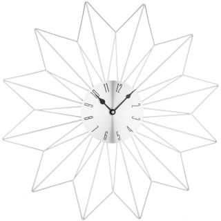 Pendule murale Etoile - Diam. 50 cm - Argent