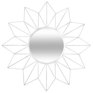 Miroir Etoile - Diam. 60 cm - Argent