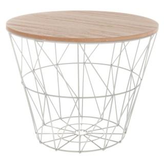 Table à café Kumi - Petit modèle - H. 30,5 cm - Gris
