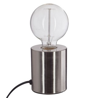 Lampe à poser en fer Ampoule - H. 10,5 cm - Argent