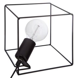 Lampe à poser en fer Contemporain - H. 20 cm - Noir