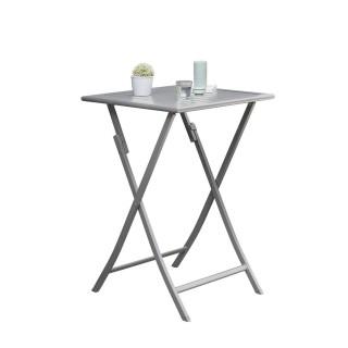 Table haute de jardin pliante 2 Personnes Marius - 70 x H. 100 cm - Gris
