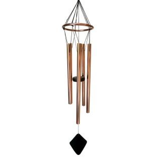 Carillon déco losange en métal - H. 78 cm - Noir