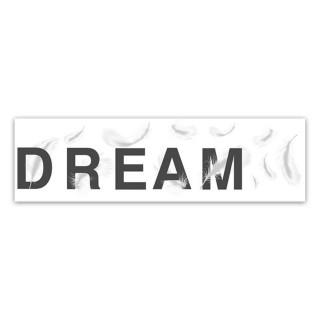 Sticker moderne Dream - 70 x 20 cm - Blanc et noir