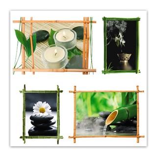 Sticker zen Bambou - 70 x 20 cm - Blanc