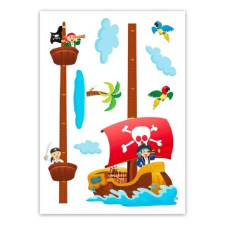 Sticker enfant Pirate - 70 x 50 cm - Multicolore