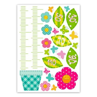 Sticker enfant Fleurs- 70 x 50 cm - Multicolore