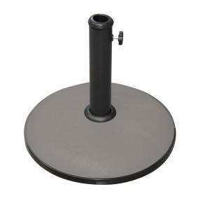 Pied de parasol rond en ciment - 15 kg - Taupe