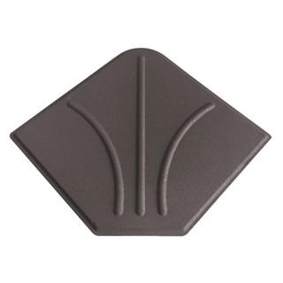 Dalle en ciment pour parasol déporté - 20 kg - Taupe