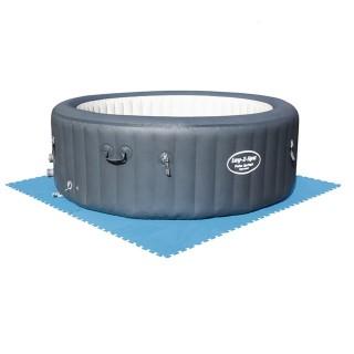 8 Tapis de sol pour piscine et spa - 50 x 50 cm - Bleu