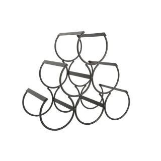Casier 6 Bouteilles en métal Filaire - 30 x H. 26 cm - Noir