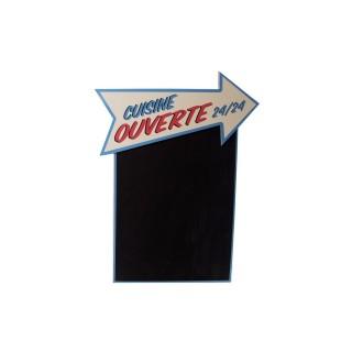 Tableau mémo ardoise Vintage - 37 x 48 cm - Cuisine ouverte