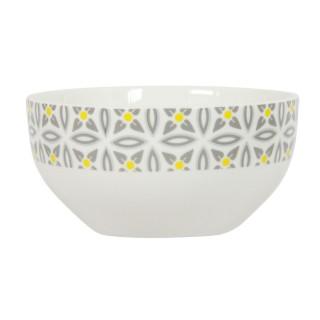 Bol en porcelaine Aristo - Blanc décoré