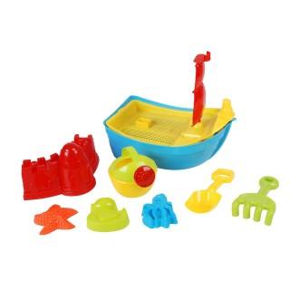 Set de plage bateau et accessoires - 8 pièces - Bleu