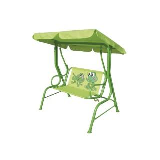 Balancelle de jardin enfant Grenouille - L. 115 cm - Vert