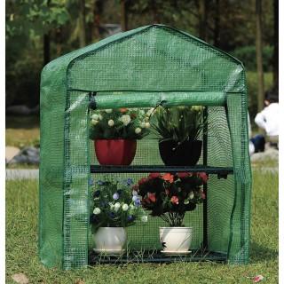 Serre de jardin avec 2 Etagères - 68 x H. 94 cm - Vert